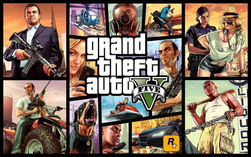 GTA V постер